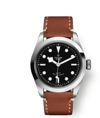 Tudor BLACK BAY 41 Watch Replica 41 mm steel case Brown leather strap m79540-0007