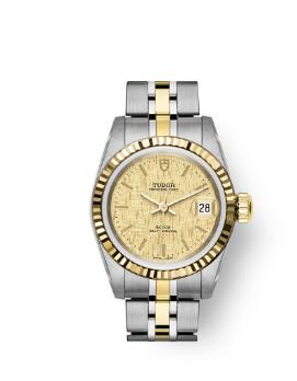 Buy Tudor Princess Date Replica Watch 25 mm steel case Yellow gold bezel m92413-0003