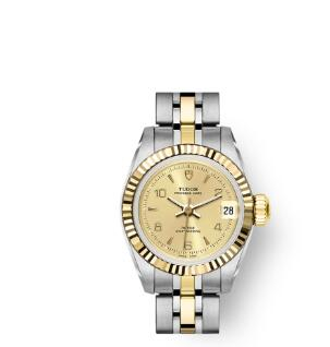 Buy Tudor Princess Date Replica Watch 22 mm steel case Yellow gold bezel m92513-0014
