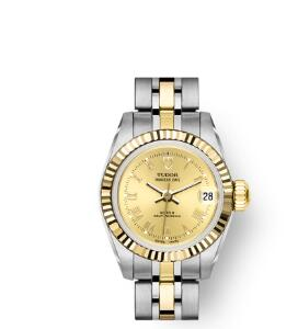 Buy Tudor Princess Date Replica Watch 22 mm steel case Yellow gold bezel m92513-0016