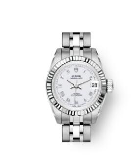 Buy Tudor Princess Date Replica Watch 22 mm steel case White gold bezel m92514-0001
